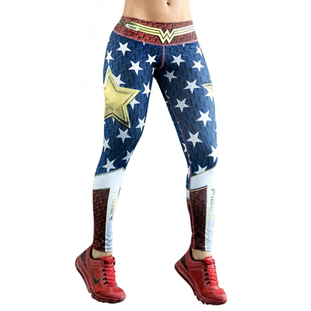 bc2697e77a7e7 Leggings Superhero Yoga Pants Women's Compression Tights Wonder Woman  Legging Limited Edition Fiber Colombia Trousers Sportswear