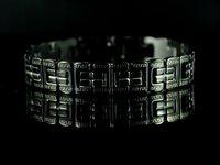 бесплатная доставка и оптовая продажа рождественский подарок b507 классический из нержавеющей стали мужская браслет черный цвет
