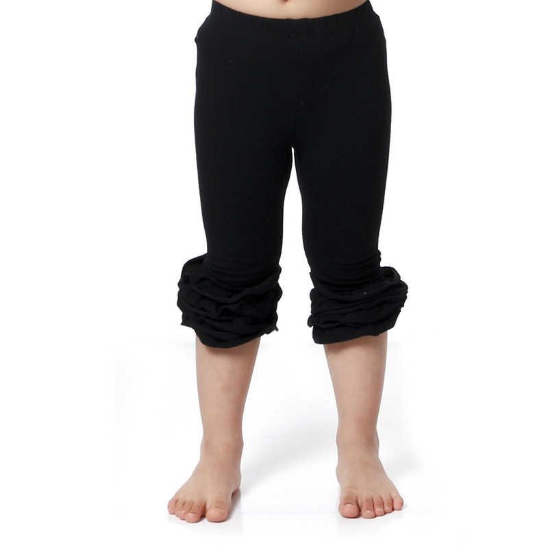 82d7603948f7c Hot Sale Girls Capri Leggings Ruffle Pants Toddler Girl Clothing Posh  Cotton Pants Girl Ruffles Leggings Baby Girl Clothes