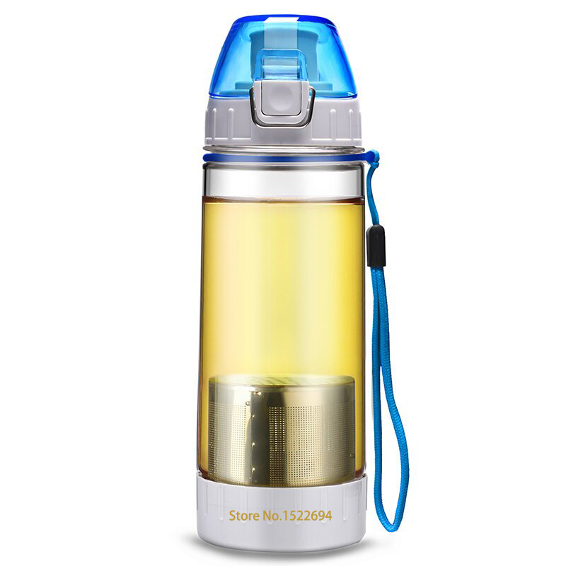 500ml Food Grade Plastic Travel Tour Sport Water Bottle Quality Coffee Tea Space Bottle Three Colors For Option