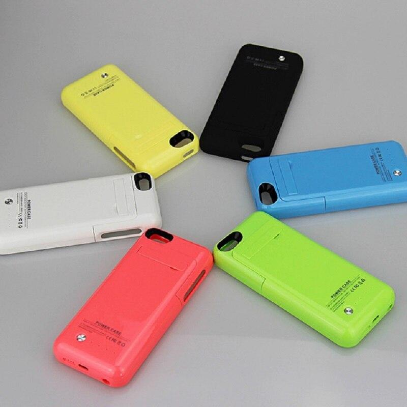 imágenes para 7 Colores Caja de La Batería Para el iphone 5 5C 5S SE 2200 mAh recargable Delgado cubierta Del Caso Banco Power Pack Cargador de Batería de Reserva Externa