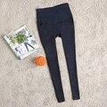 Цена завода! 2017 весной и летом материнства высокая талия тощие джинсы хороший беременные женщины натяжные брюки карандаш брюки