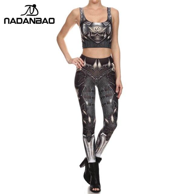 NADANBAO Brand New BARBARIAN Skull Women Leggings Printed Leggins  Woman Pants 1