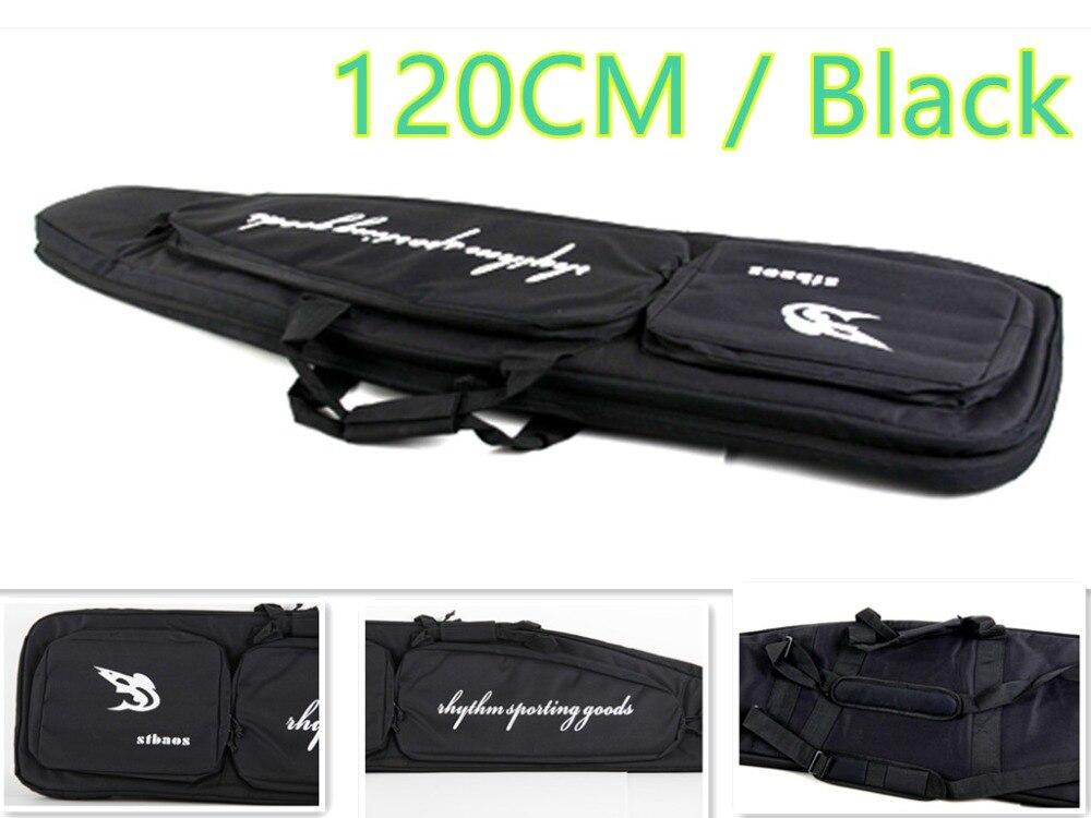120 CM Negro Airsoft Rifle Case Bolsa de Hombro Para Disparar Shoooting Tactical