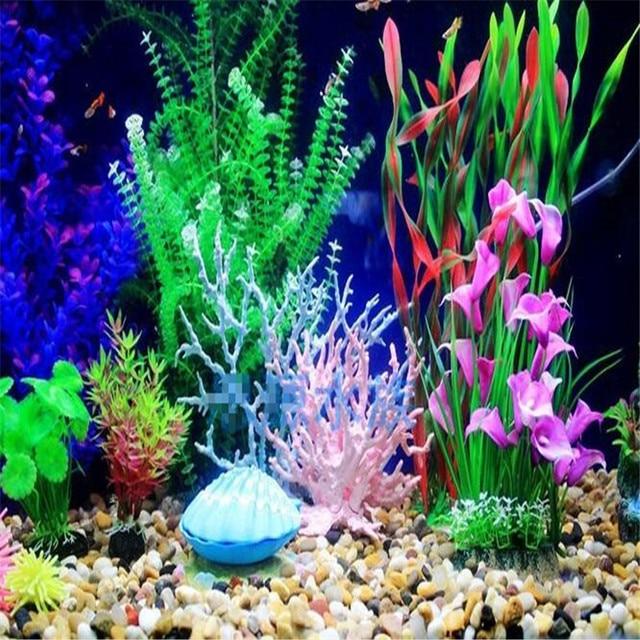 1 X Fish Tank Faux Artificial Aquarium Reef Coral Ornaments Plastic