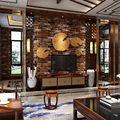 Brick Stone Wall Paper Chinese Rustic Vintage 3D Non-woven Embossed WallPaper Living room Backdrop WallCovering