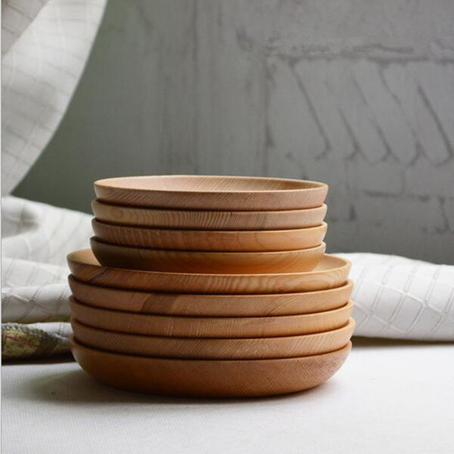 Japanische holz platte runde form wohnbedarf küche werkzeug holz ...