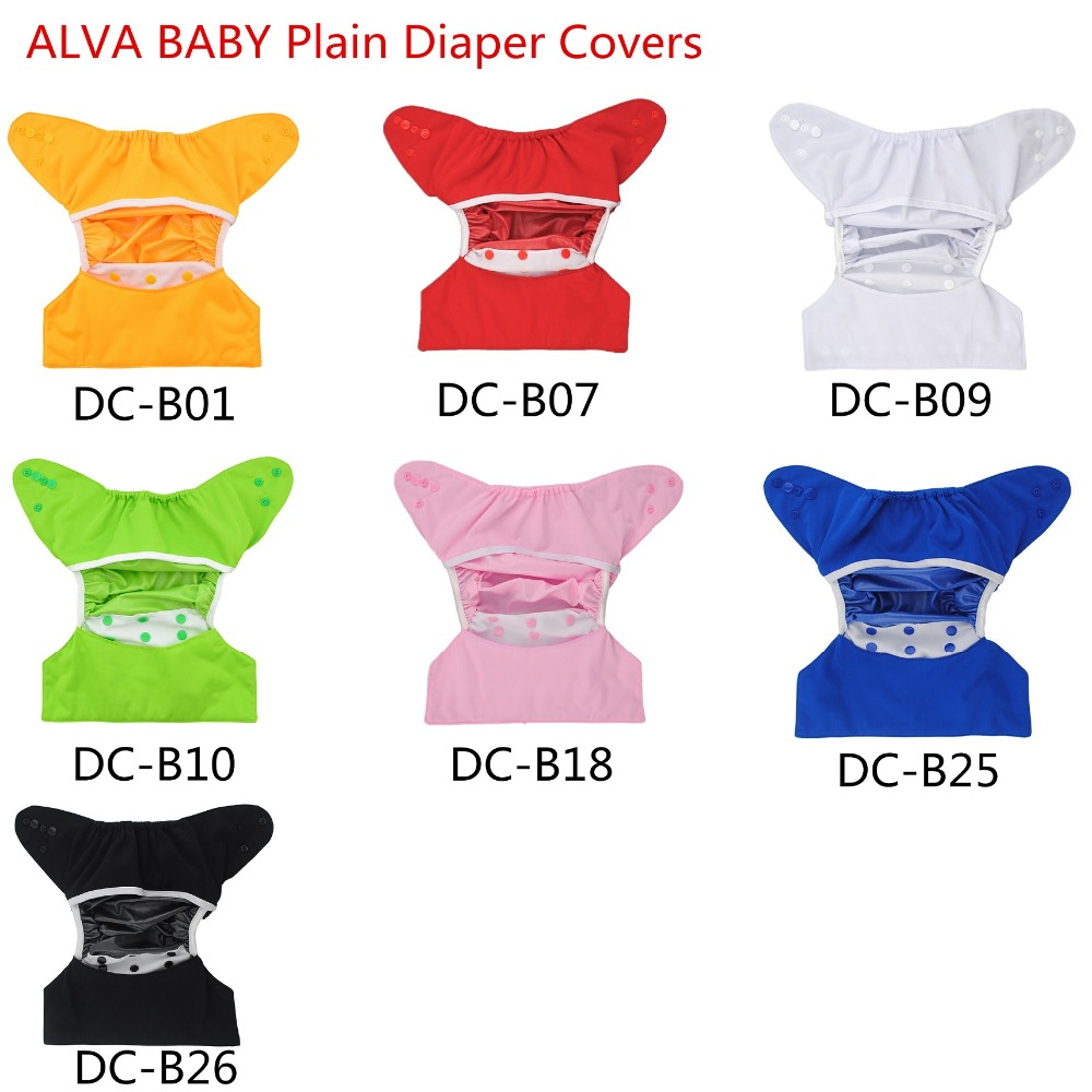 Free Shipping 2016 ALVA One layer Polyester and PUL Plain Baby Diaper Covers 50pcs per Lot