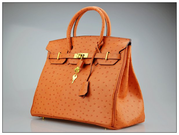 Ostrich Pattern Women S Real Leather Casual Fashion Branded Handbags Totes 35cm Whole