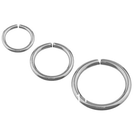 Highly Polished G23 Titanium Body Jewelry Fake Nose Rings Titanium Clip on Nose Hoop 18 Gauge  body jewelry