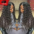 Glueless Deep Wave Full Lace Wigs Virgin Malaysian Lace Front Human Hair Wigs Loose Deep Wave With Natural Hairline Top Quality