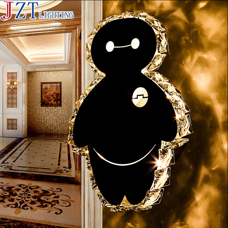 T Led Crystal Little Bear Wall Lamp Modern lamp For Bedroom Corridor Stairs High Huality Light Free Shipping!!