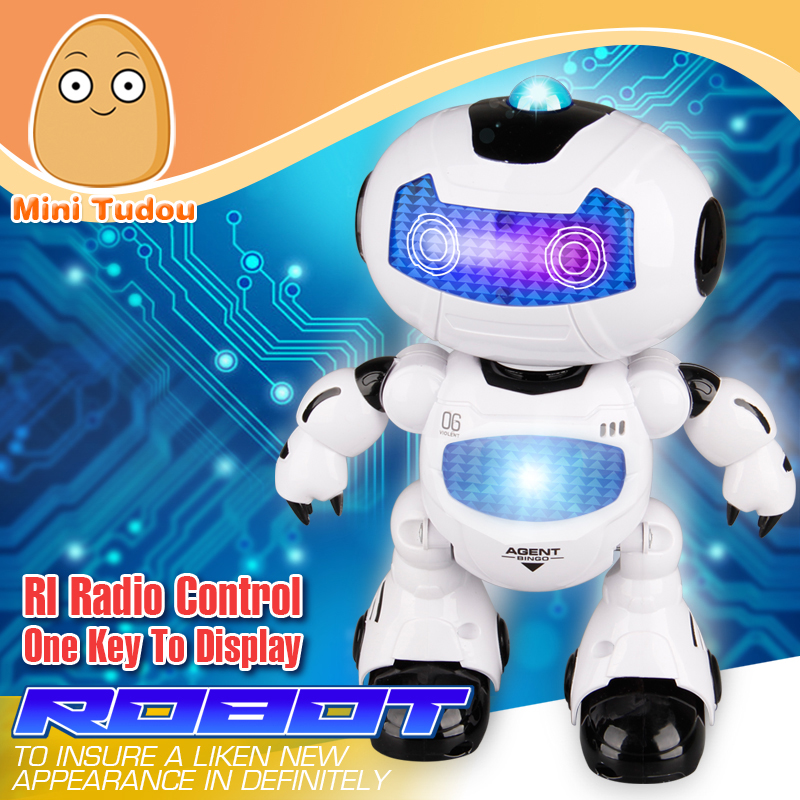 Minitudou 2016 Figure Action Learning & Education Infrared Remote Control Toy RC Robot Toys Electron