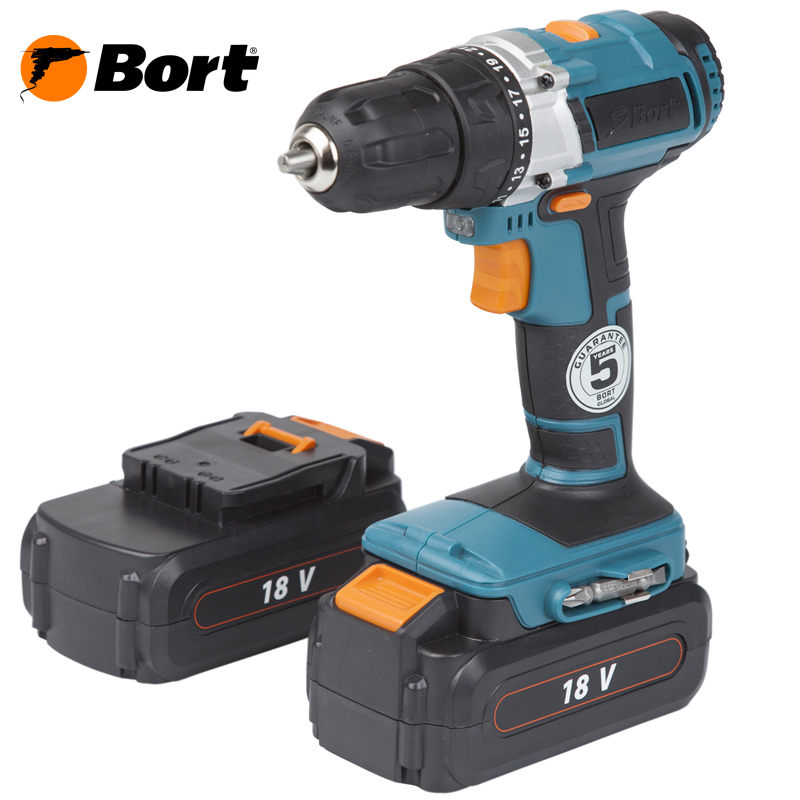 Cordless Drill/Driver Bort BAB-18Ux2-DK titanium coated pcb drill 3 175mm 0 8mm drill tool 10pcs printed circuit board mini engraved metal cnc router woodworking