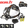 6000 Lumens 3L2 LED Headlight Headlamp Bicycle Bike Light 8000 Lumens USB Rechargeable  Headlamp +Charger/ 18650 battery
