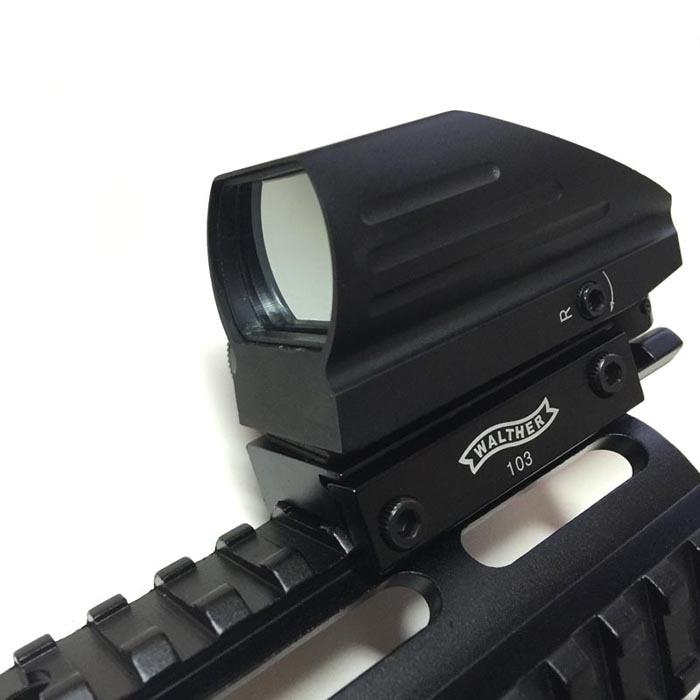 ФОТО Hunting Green Red Dot Sight Reflex Scope 20mm Tactical AK Holographic 1x22x33 Reflex +Tactical AK Side Mount Quick QD Style 20mm