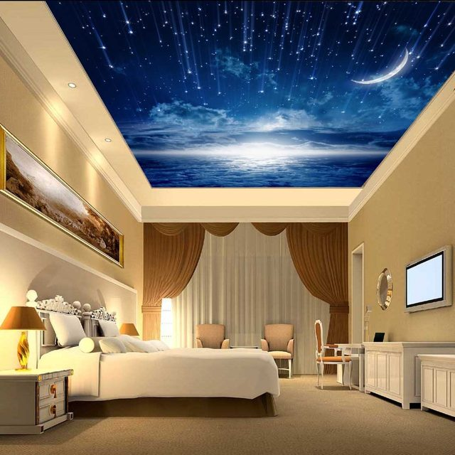 online shop custom murals 3d star nebula night sky wall painting rh m aliexpress com