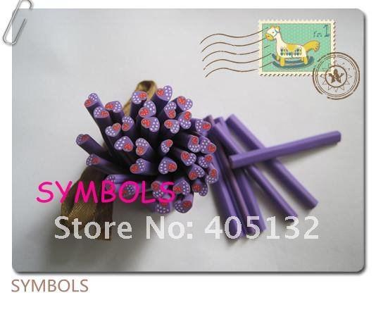 A-32 100 шт. 5 мм Симпатичные фиолетовый клубника он Книги по искусству Полимерная глина Кейн Необычные Дизайн ногтей Полимерная глина Кейн