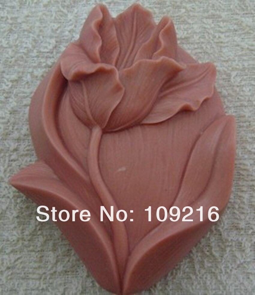 1 шт. тюльпан(ZX190) силиконовые формы для мыла ручной работы поделки DIY Плесень
