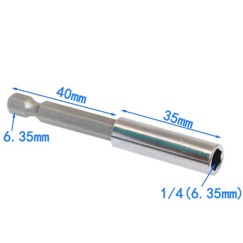 """1/4 мм 6,35 """"хвостовик Quick Release электрические сверла Магнитная отвёртки бит держатель рукава"""
