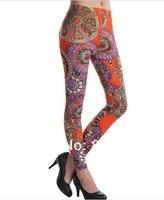 бесплатная доставка 2015 лето западный звезды женщины мода сексуальный тонкий граффити печать леггинсы свободного покроя брюки