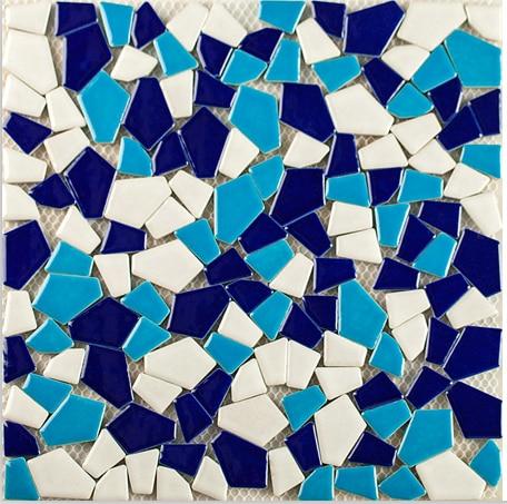 Swimming pool Blue Mediterranean irregular style ceramic mosaic tiles,Kitchen backsplash/Bath shower/Fireplace art decor,LSSP10 art ceramic