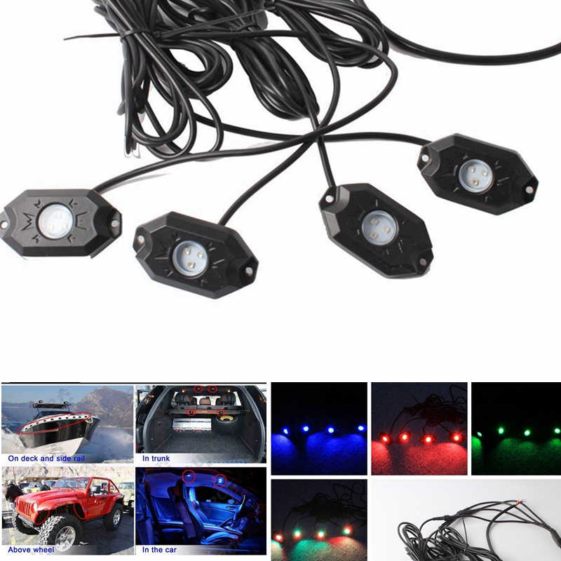 bluetooth pod rgb mini rock under vehicle led flush lights 4 led rock lights rgb for off road. Black Bedroom Furniture Sets. Home Design Ideas