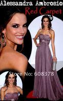 платье партии ala001 алессандра амбросио шифон вечерние платья знаменитости красный ковёр
