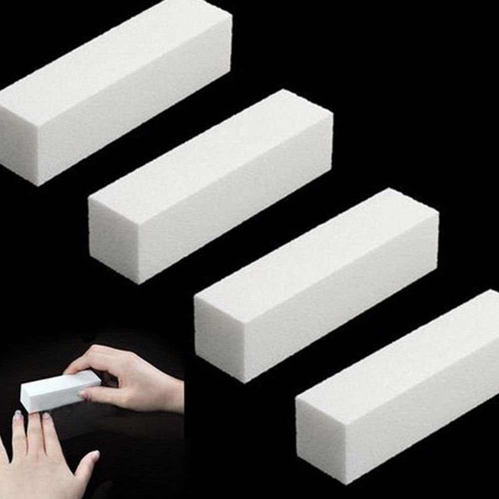 1 Pc! Sanding Nail File Buffer Block for UV Gel Nail Polish Nail Art Tools Manicure Pedicure White Form Nail Buffers File