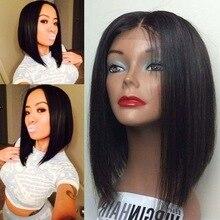 Brazilian Short Human Hair Bob Wigs For Black Women Virgin Straight Full Lace Bob Wig Short Haircut Layered Bob Lace Front Wigs