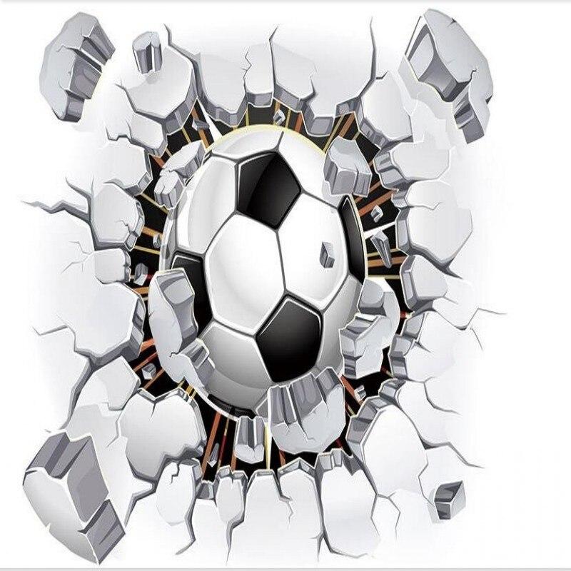 ᑐbeibehang Fútbol Foto Papel Pintado 3d Pared Pasión Wallpaper Para