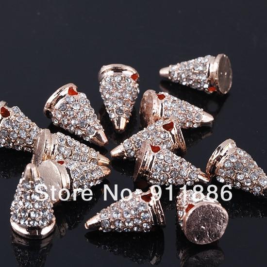 JPG Rose Rivet (5).JPG. Charm Hip Pop Punk Spike Rivet Crystal Connector  Beads 7ea49e81b6df