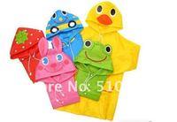 З. 9 шт. / много смешивать цвета дети пончо, дети Riot pla модель, полиэстер милый дождь пальто с Mask Додж