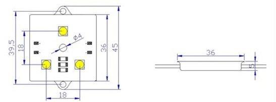 20 штук/String водонепроницаемый светодиодный модуль пиксела, 4 шт. SMD RGB 5050,1 шт. WS2801, 256 уровней серого, DC12V, 0.96 Вт