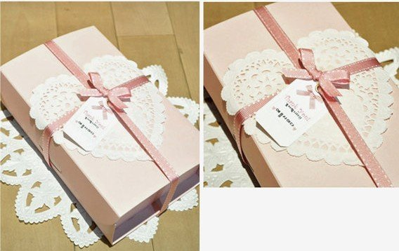 Wholesale Romantic Embossed Heart Paper doily Cake Doilies 10 inch (400pcs) Free shipping