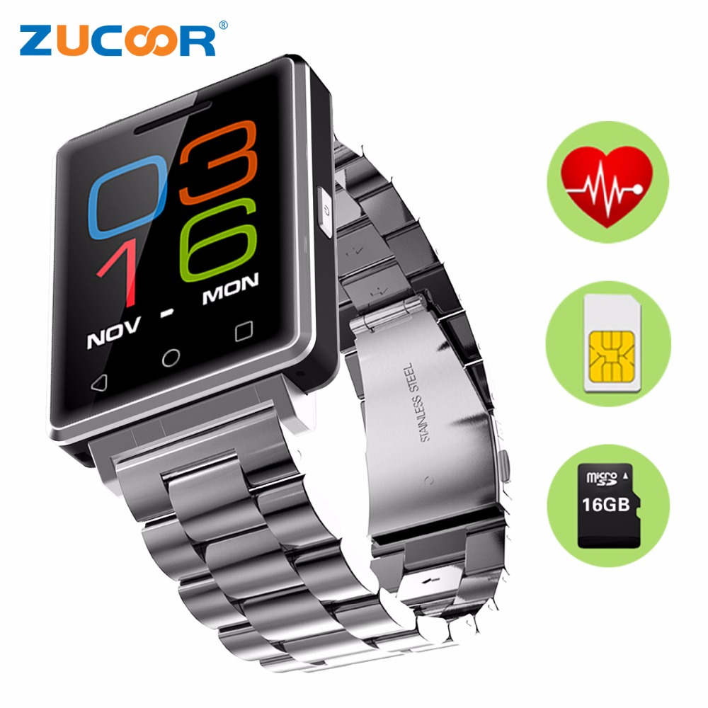 Smart Watch Phone Heart Rate Monitor ZW80 Fitness Tracker Support SIM SD/TF Card Pedometer Bluetooth For iOS Android Men/Women wireless heart rate monitor watch smart pedometer fitness tracker for sports