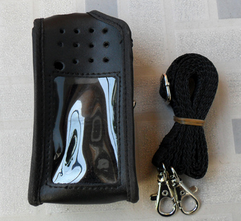 Radio FM skórzane etui dla radia IC-V80 IC-V85 2 way radio walky talky ic v80 ic v85 tanie i dobre opinie Ycall IC-V85 case Walkie talkie leather case walkie talkie case 2 way radio case Black