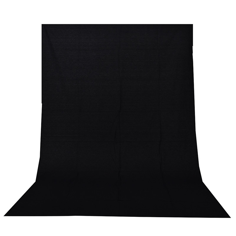 Black Screen Chromakey Backdrop 6x9 Muslin Video Photo Background Photography Studio Background Photo Lighting supon 6 color options screen chroma key 3 x 5m background backdrop cloth for studio photo lighting non woven fabrics backdrop