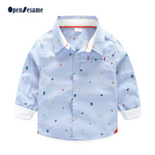 New fashion 2016 baby boy spot pattern clothes boys blouses & shirts plaid children clothing and accessories shirt for 2-9yr