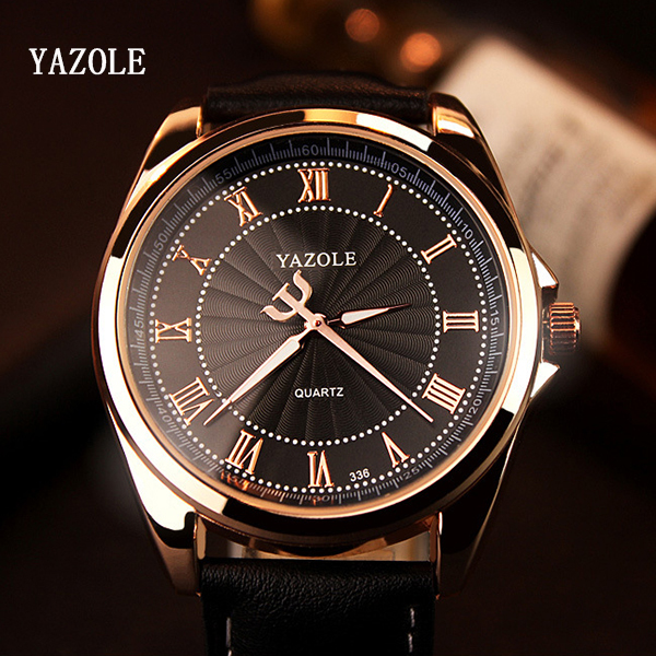 YAZOLE Quartz Watch Men Top Brand Luxury Famous 2017 Wristwatch Male Clock Wrist Watch Business Quartz-watch Relogio Masculino