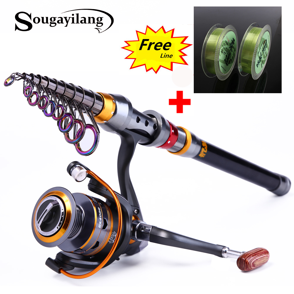 Sougayilang 1.8-3.6m Telescopic Fishing Rod and 11BB Fishing Reel Wheel Portable Travel Fishing Rod Spinning Fishing Rod Combo книги издательство аст везунчики