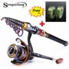 Sougayilang 1 8 3 6m Telescopic Rod And 10 1BB Reel Set Bass And Fishing Rod