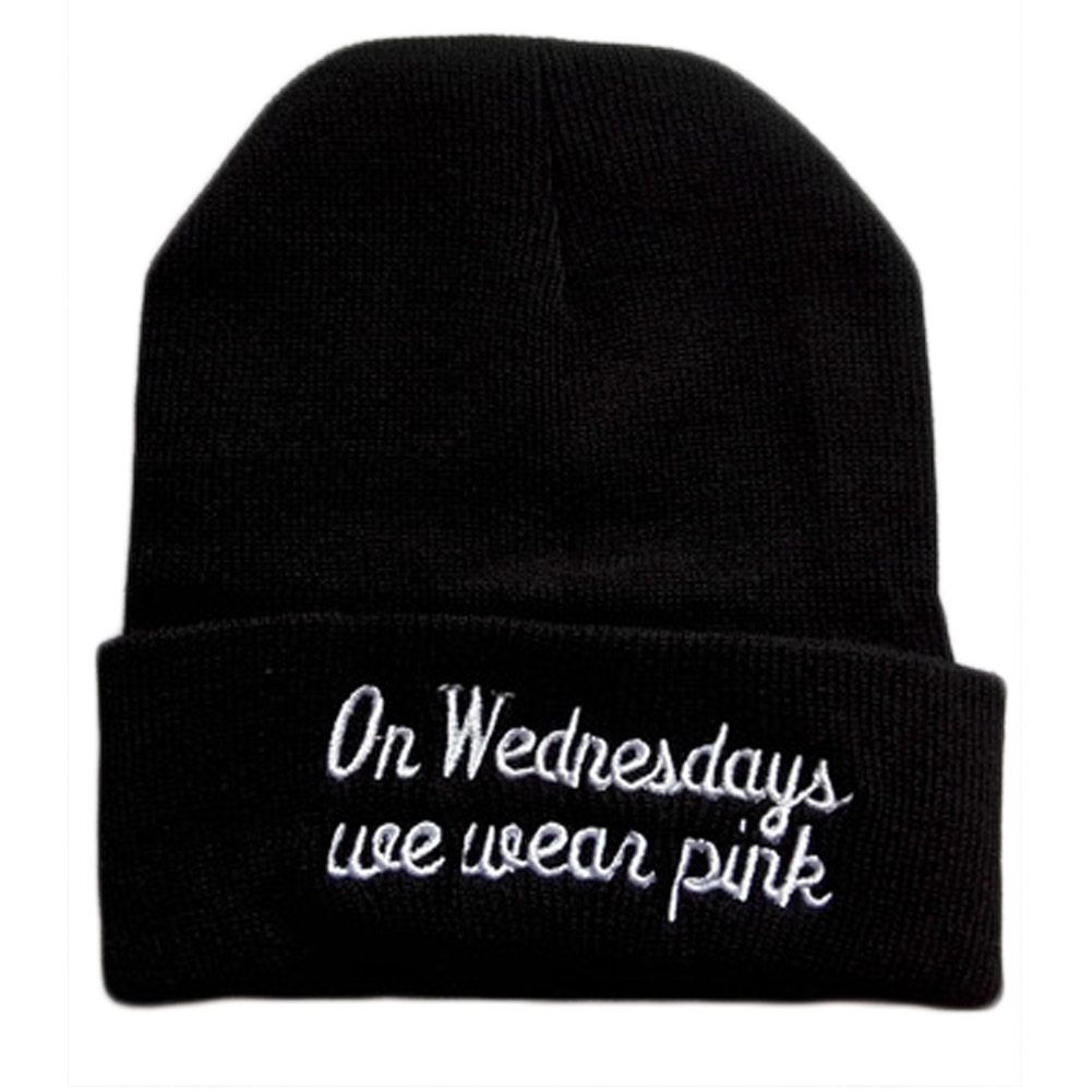 купить New Arrival autumn winter spring Europe on wednesdays wear pink embroidered wool knit pink hat hedging 3colors недорого