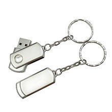 Wholesale Waterproof Metal Silver USB Flash Drive Pen Drive 64GB 32GB 16GB 8GB 4GB Pendrive with Key Ring Memory Disk USB 2.0