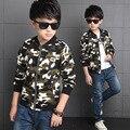 4-12 anos Outono meninos jaquetas meninos roupas de camuflagem de algodão crianças outwear para crianças da marca crianças casacos para meninos roupas