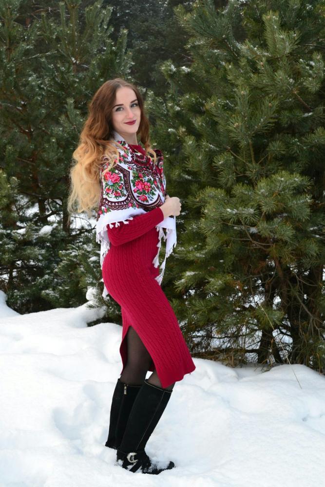 Всем известное теплое длинное платье