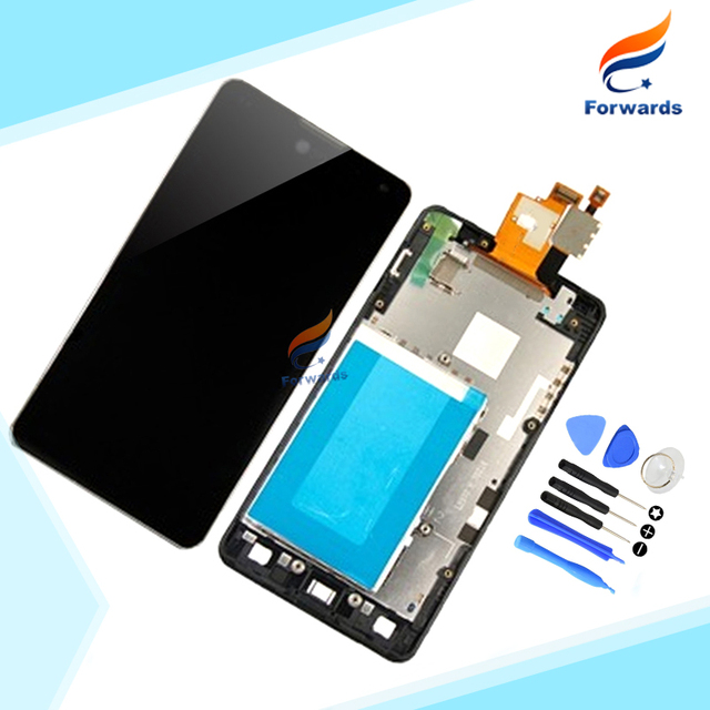 High Quality for LG Optimus G E975 E971 E973 E977 LCD Display with Touch Screen Digitizer + Frame assembly 1 piece free shipping