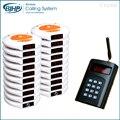 1 transmissor 20 cliente pagers 2 carregador sem fio Sistema de paginação restaurante garçom chamada pager Coaster Número de Atendimento Ao Cliente