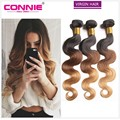 Ombre 3 Tone Brazilian Hair Body Wave Ombre Brazilian Hair Weave 3 Bundles 7A Brazilian Virgin Hair Weave human hair extensions