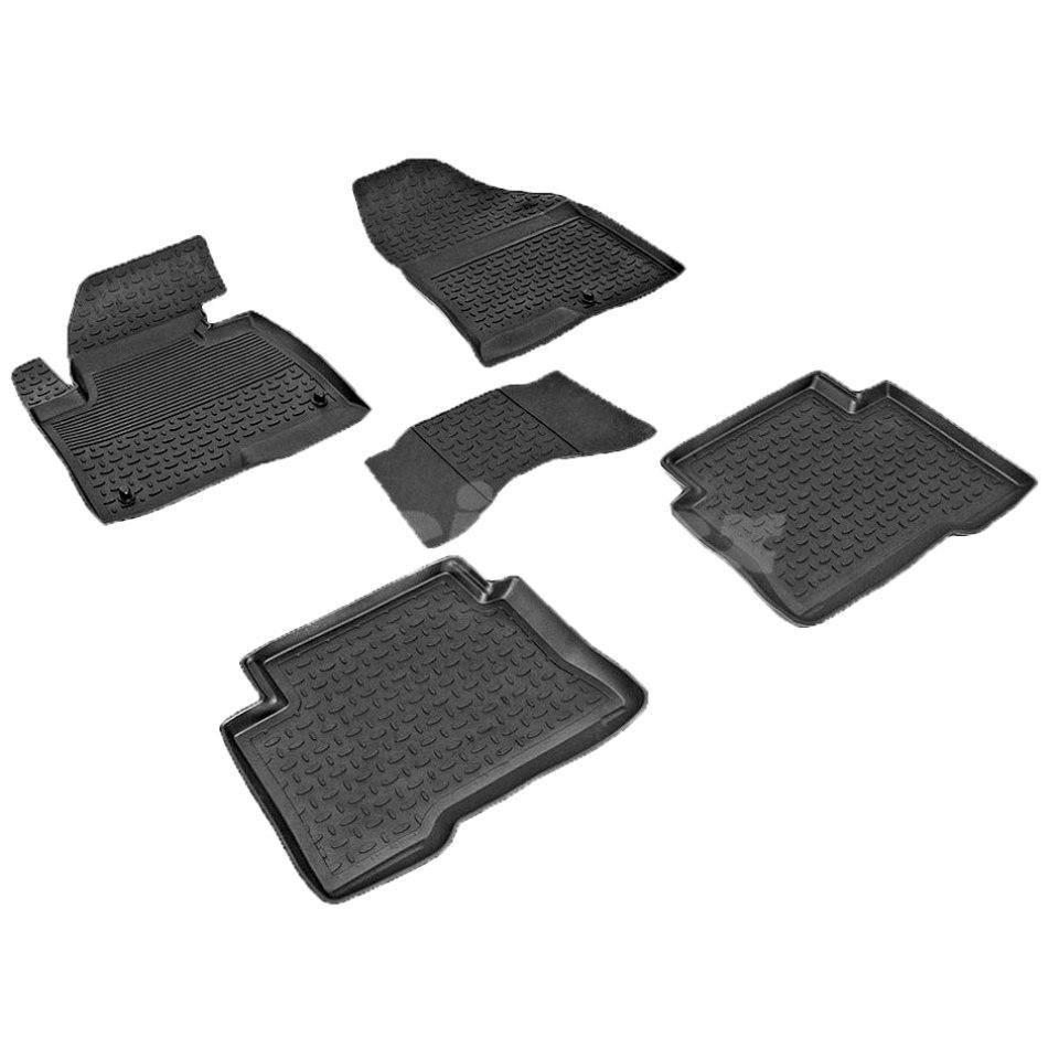 Rubber floor mats for Hyundai Santa Fe III 2012 2013 2014 2015 2016 2017 2018 Seintex 83487 seintex 85749 hyundai santa fe 2013 black